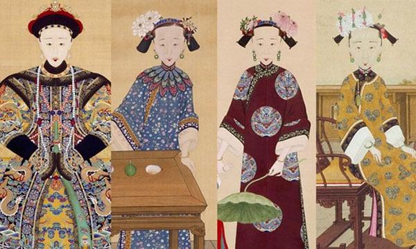 这是孝全成皇后,咸丰帝生母钮祜禄氏的肖像,虽然画风有点魔性,但是图片
